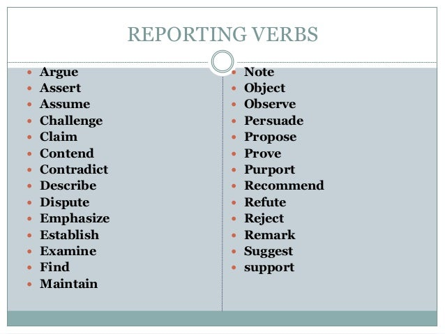 reporting verbs academic writing exercises