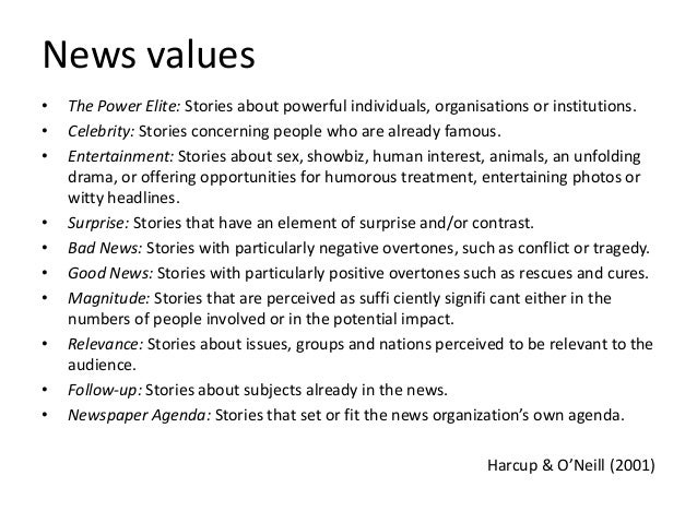 journalism news values Download making headlines news values and risk signalling in journalism in pdf and epub formats for free also available for mobi and docx read making headlines news.