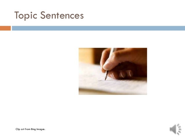 Topic Sentences Clip art from Bing Images.