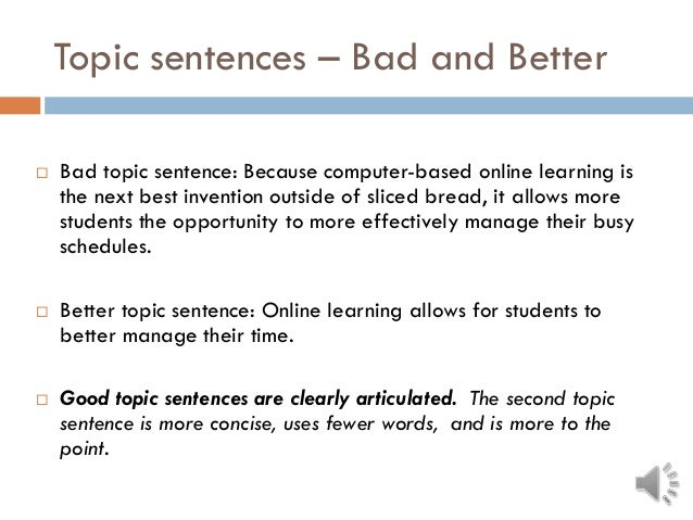 topic sentence about computers