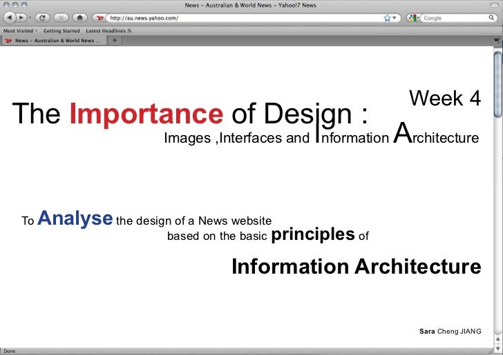 Week 4 The Importance of Design :                                                I                         Images ,Interfa...