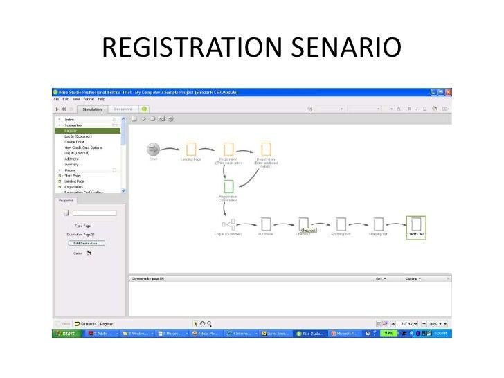 REGISTRATION SENARIO<br />