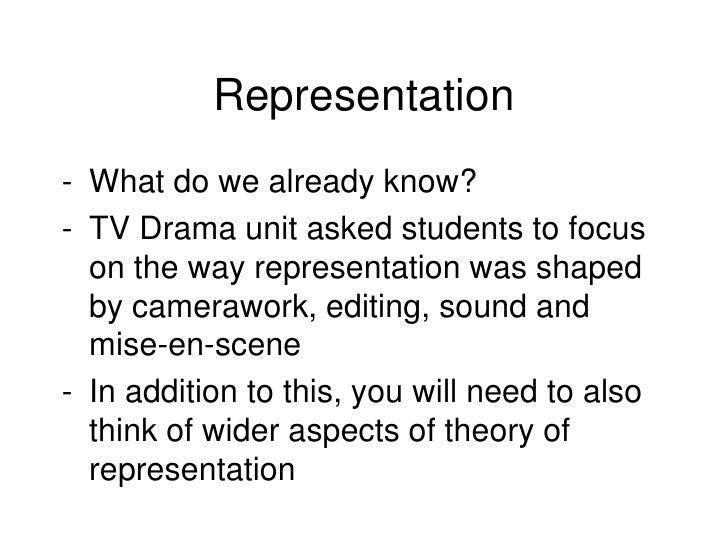 Week 4 representation