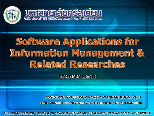 Information management innovatione-commerce, e-business, m-businessEDI, Cloud ComputingERP, CRM, SCMDissertation TitlesWor...