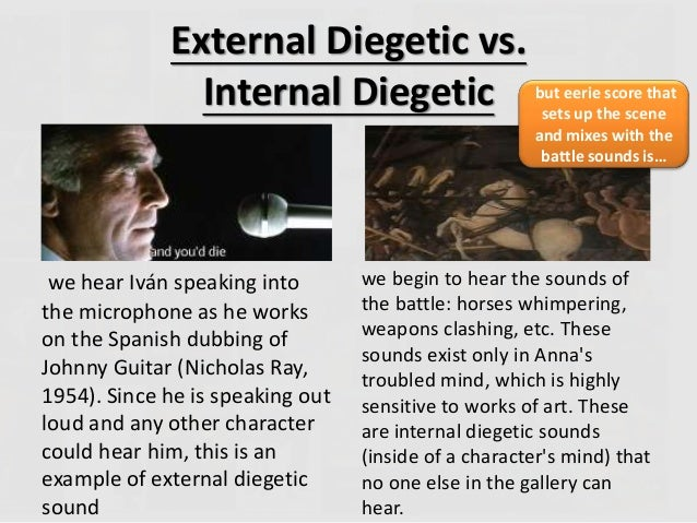 how to write diegetic sounds