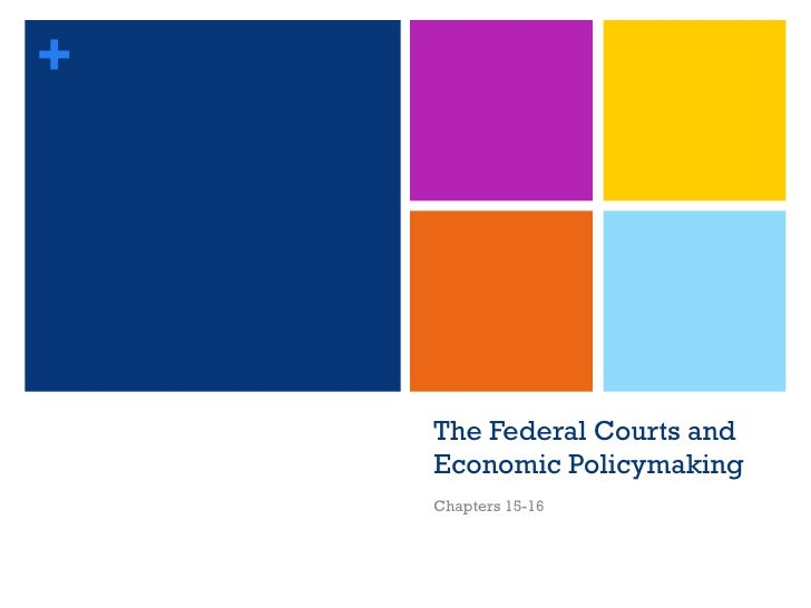 The Federal Courts and Economic Policymaking Chapters 15-16