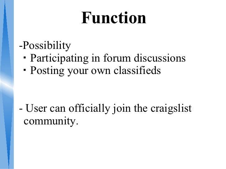 How Craigslist Works