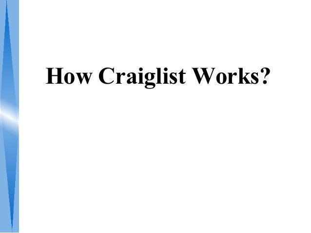 How Craiglist Works?