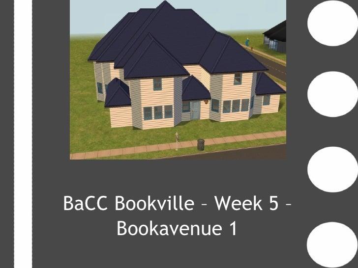 BaCC Bookville – Week 5 –     Bookavenue 1