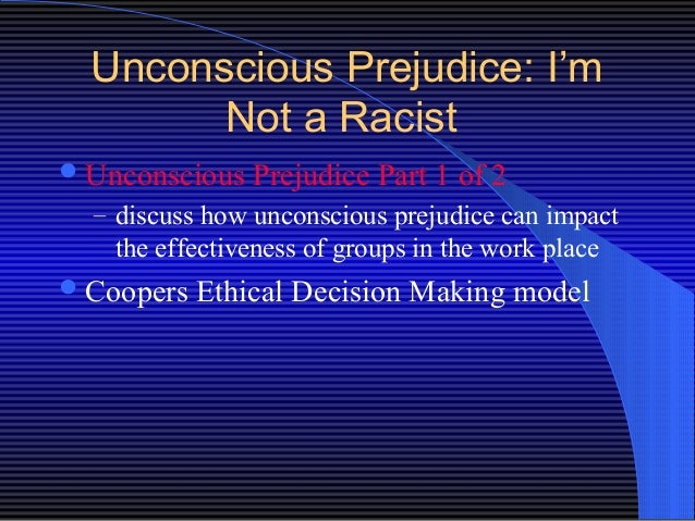 unconcious racism The studies just keep coming unconscious racism is pervasive it starts early and it creates a deadly empathy gap.