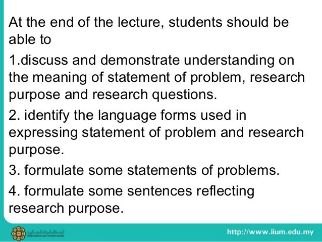 Statement of problem meaning