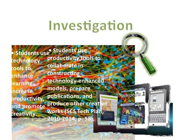 Technology Produc5vity Tools • Students use   Students use                     •technology  produc5v...