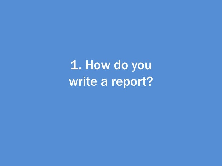 write a report on plagiarism