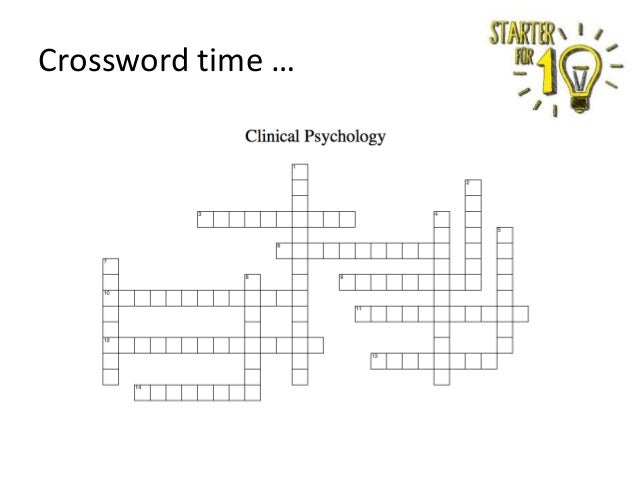 Crossword time …