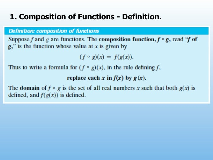 1. Composition of Functions - Definition.