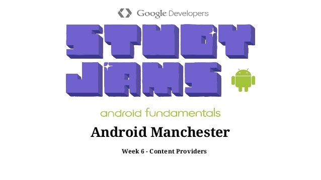 Android Jam - ContentProviders - Udacity Lesson 4b