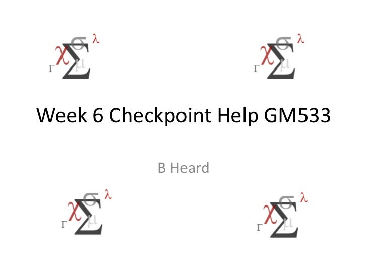 it282 week 6 checkpoint View lab report - week 6 checkpoint solution from p proj430 at devry nj the  bathtub period (chapter 15, pp 708 - 709) case study questions: 1 should.