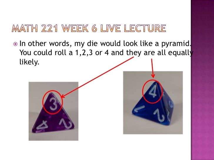 1 when rolling a die is this an example of a discrete or continuous random variable explain your rea Make a histogram to show the sample space and their probabilities (sample   there are two main types of random variables: discrete and continuous  the  probability distribution of a discrete random variable x lists the values xi and their  probabilities pi:  when rolling two dice, the probability of rolling doubles is 1/6.