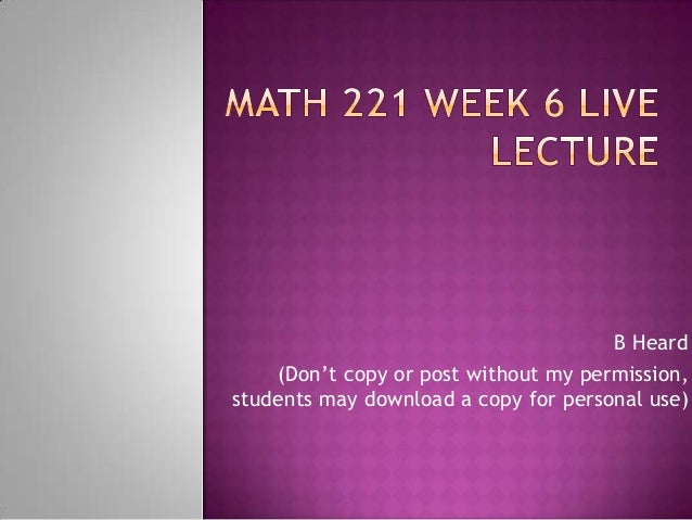 math 221 lab week 6 Math 221 week 2 ilab devry 1 create a pie chart for the variable car color: select the column with the car variable math 221 week 6 ilab devry $1499 add to.