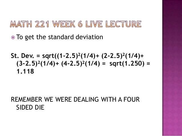 Math 221 devry week 4 lab