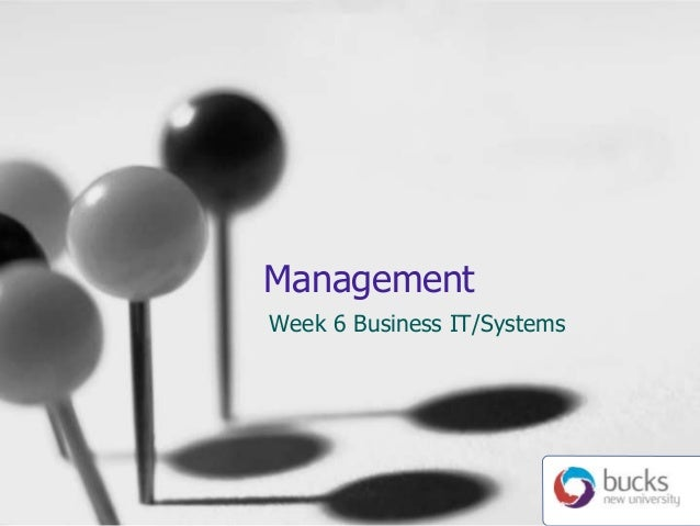 Management Week 6 Business IT/Systems