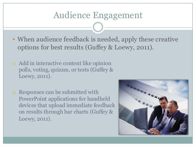 effective business presentations audience