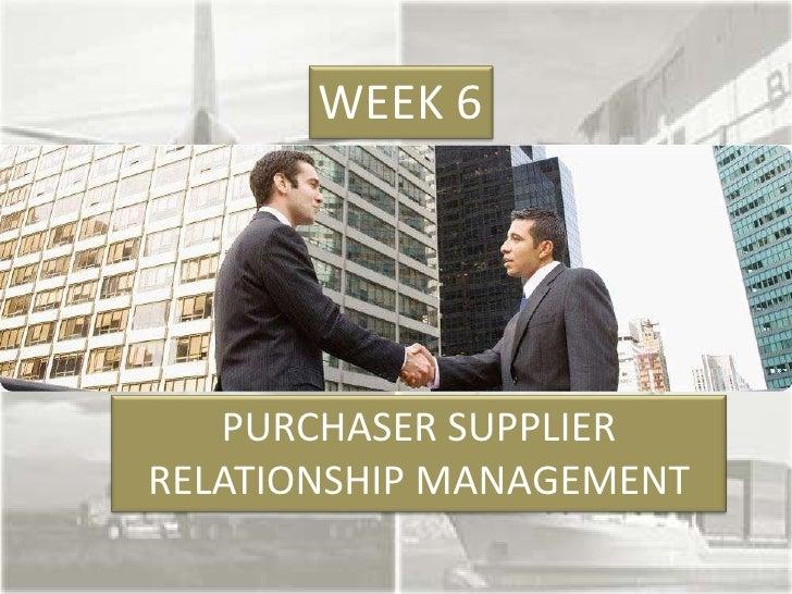 Week6 Supplier Management