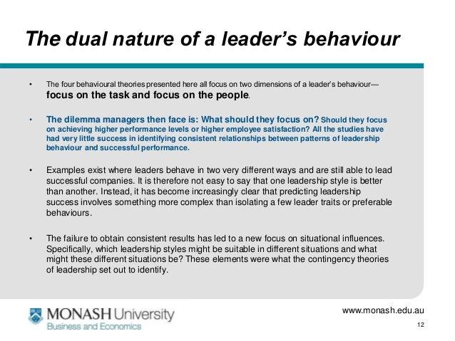 Dual Nature Of Leader S Behaviour