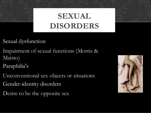 Sexual problems psychology