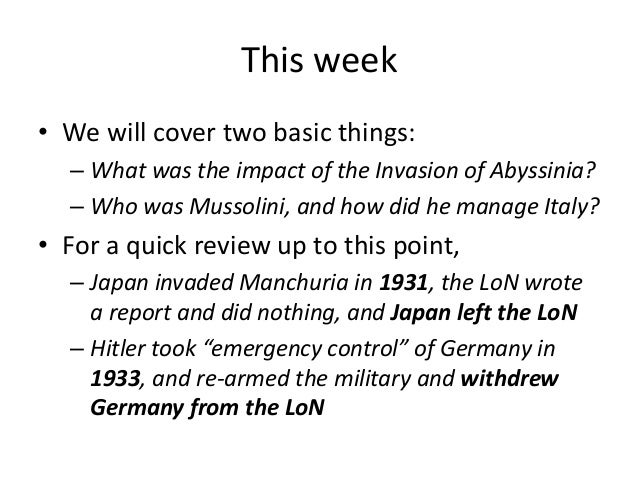 the invasion of abyssinia Start studying the abyssinia invasion - causes and responses learn vocabulary, terms, and more with flashcards, games, and other study tools.