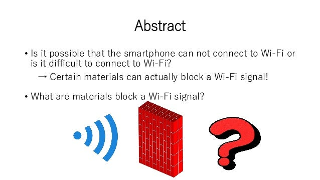 What Materials Can Block A Wi Fi Signal