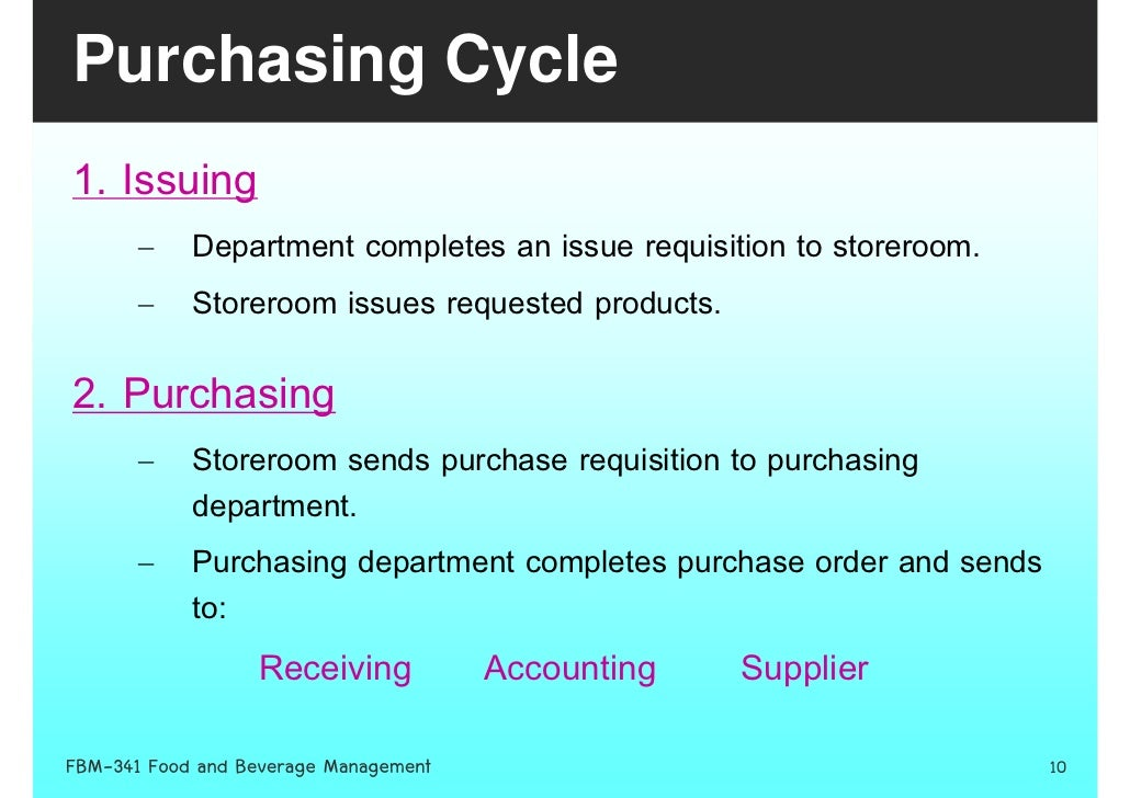 purchasing and finance department