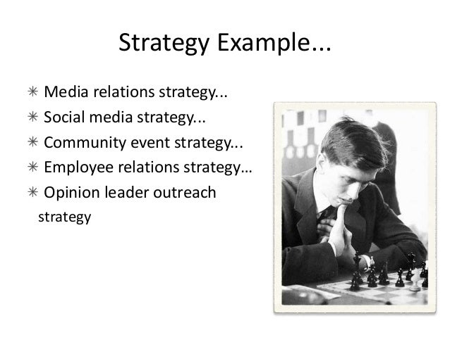 Tactics • Length varies – usually several pages • Detailed steps toward how you will achieve your strategy – Someone else ...