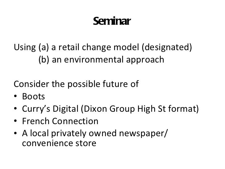 Notes on theories of retail change