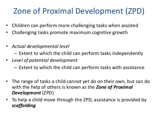 Socio cultural development vygotsky zone of proximal development ccuart Images