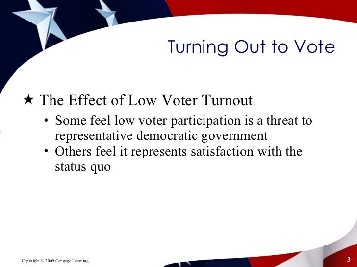 the impact and consequences of low voter turnout in regards to congressional elections Memo for armchair strategists: four key factors for in the interval the state had two congressional elections in 2014 low voter turnout among groups that.
