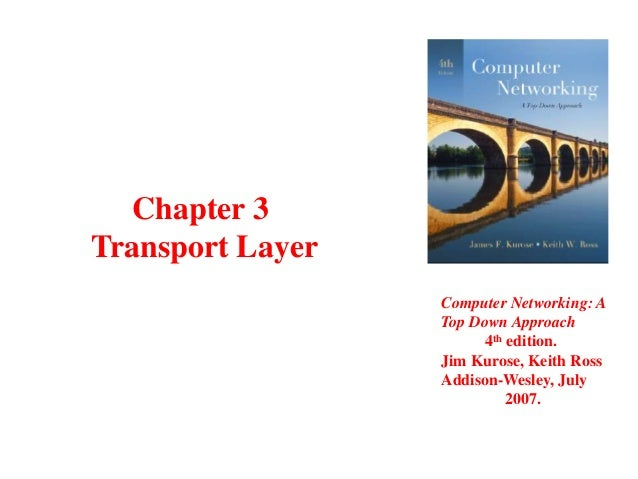 Chapter 3 Transport Layer Computer Networking: A Top Down Approach 4th edition. Jim Kurose, Keith Ross Addison-Wesley, Jul...
