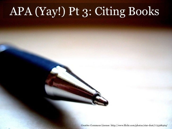 Week 8   lesson part 2 - books in apa