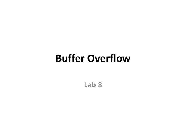 Buffer Overflow Lab 8