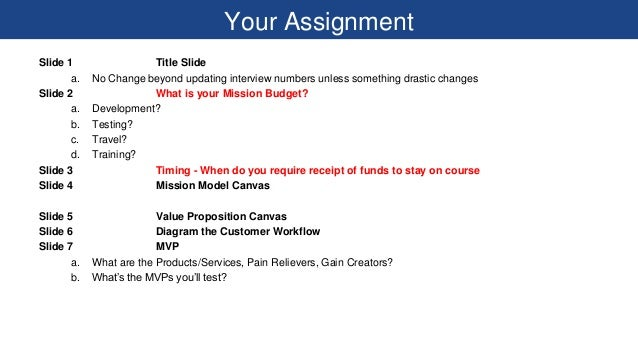 Your Assignment Slide 1 Title