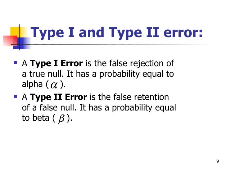 relationship between alpha and type 1 error null
