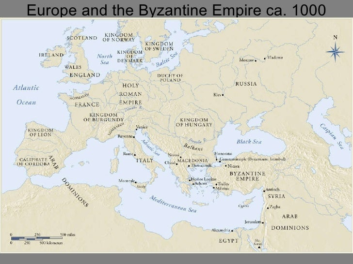 Europe and the Byzantine Empire ca. 1000