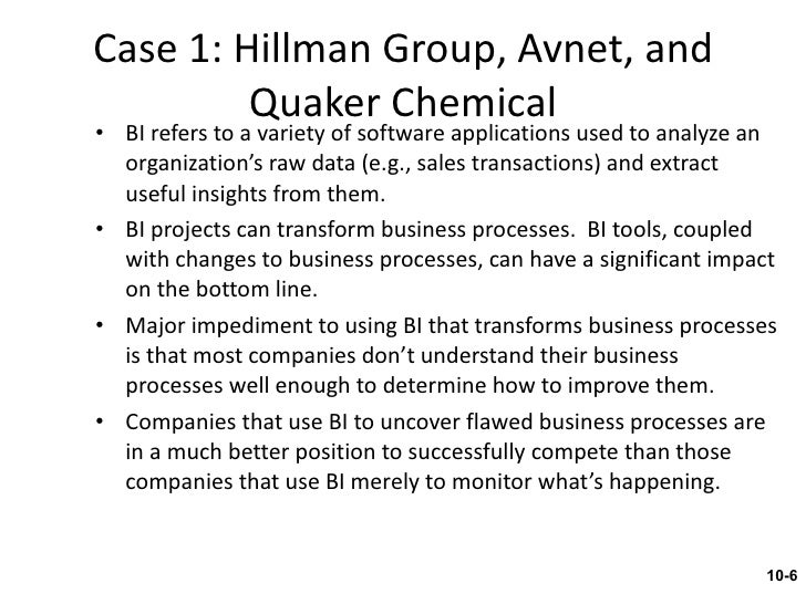 hillman group avnet and quaker chemical case study Technology services army armament research development and  dow chemical company  broadview networks avnet, inc  pennzoil-quaker state co.