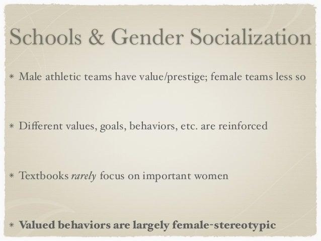 gender socialization in schools
