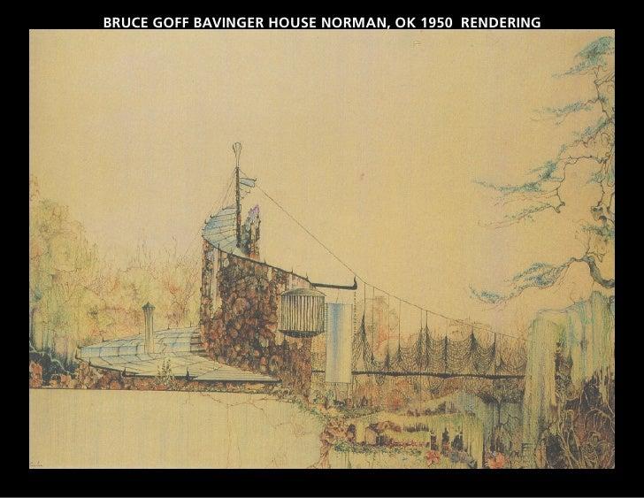 BRUCE GOFF BAVINGER HOUSE NORMAN, OK 1950 RENDERING