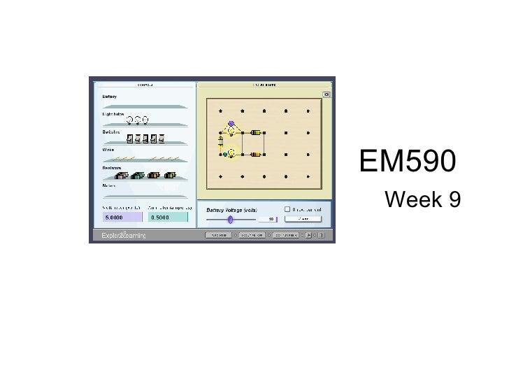 EM590  Week 9