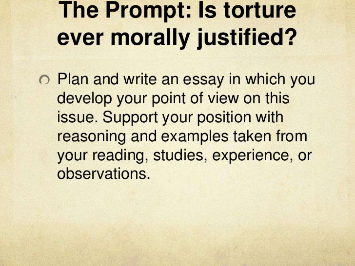 a case for torture