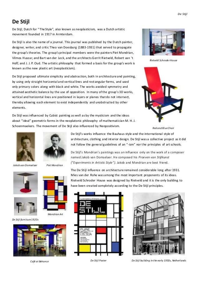 Week 9 de stijl for De stijl architettura