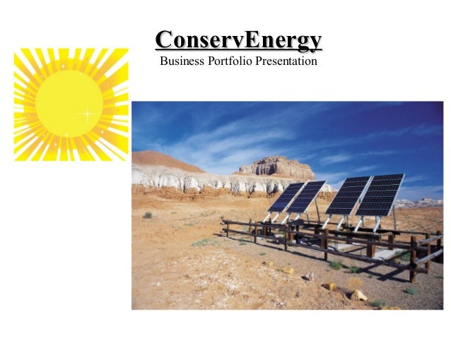 ConservEnergyBusiness Portfolio Presentation
