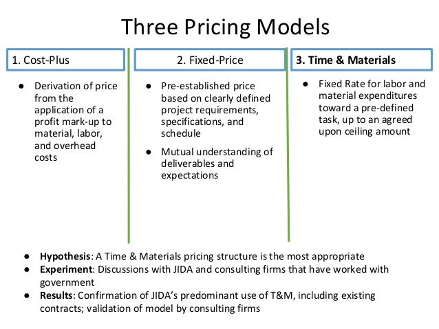 1 cost plus 2 fixed price 3 for Cost plus contract example